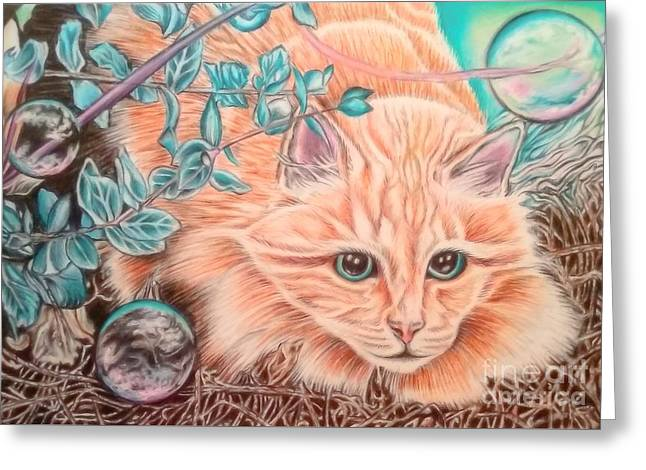 Floyd Greeting Card by Andrea Hayes