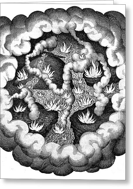 Fludds Primordial Fires, 1617 Greeting Card by Wellcome Images