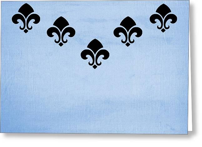Fleur De Lis In Blue Greeting Card