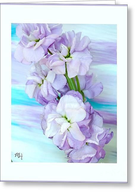 Fluffy Flowers Greeting Card by Marsha Heiken