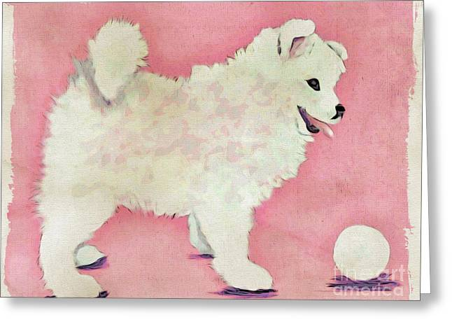 Fluffy Pup Greeting Card by Phyllis Kaltenbach