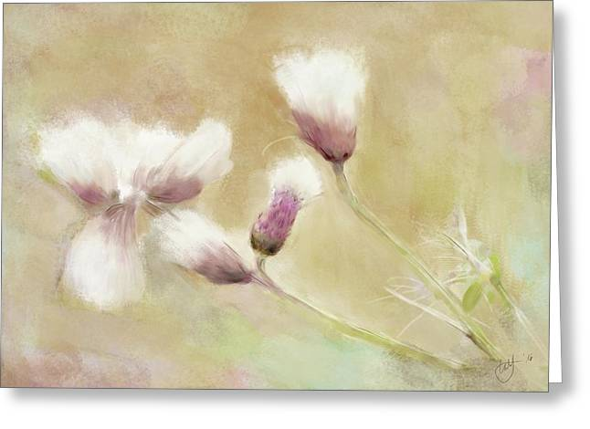 Fluffy Thistle Greeting Card