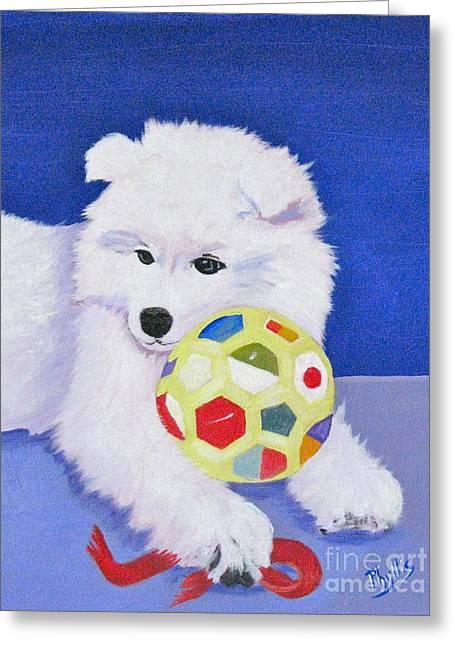 Fluffy's Portrait Greeting Card by Phyllis Kaltenbach