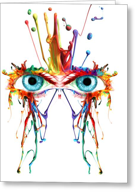 Fluid Abstract Eyes Greeting Card