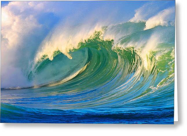 Shorebreak Greeting Cards - Fluid Combustion Greeting Card by Paul Topp
