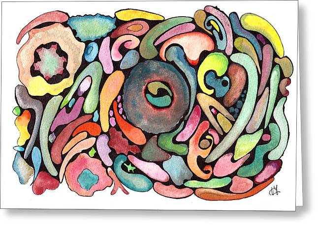 Fluid Disorder Greeting Card by Vittorio Magaletti