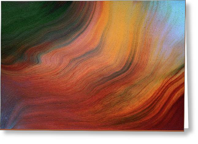 Fluid Lucidity Abstract Greeting Card