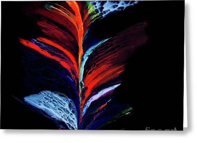 Fluidity Black #1 Greeting Card