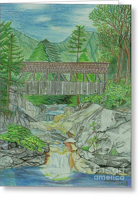 Flume Gorge Nh Greeting Card by Eric Pearson