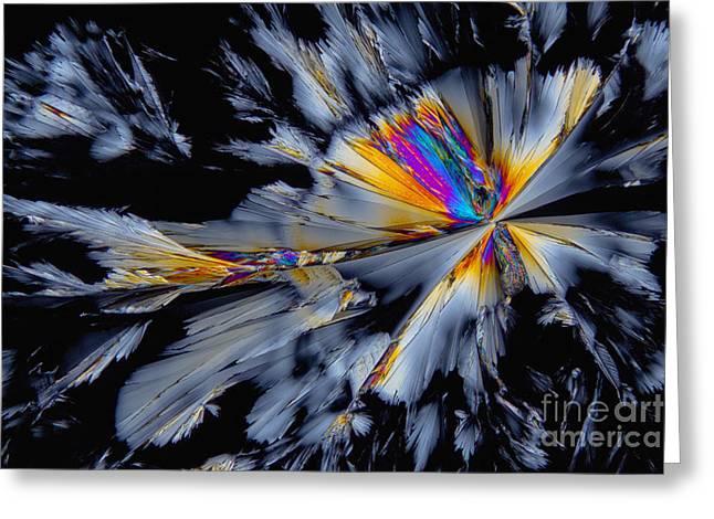 Fluoxetine Hydrochloride, Polarized Lm Greeting Card by Antonio Romero