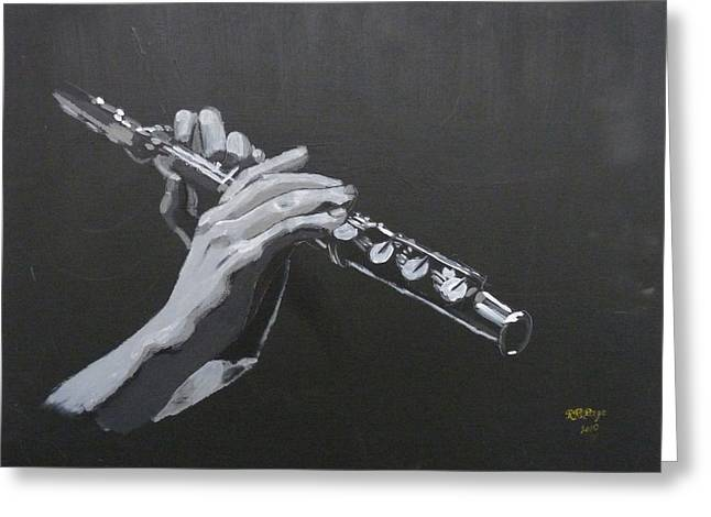 Flute Hands Greeting Card
