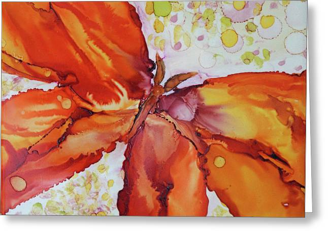 Greeting Card featuring the painting Flutter by Joanne Smoley