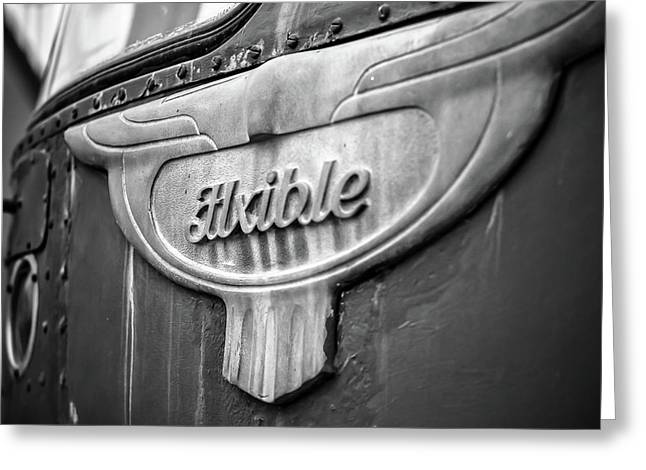 Flxible Clipper 1948 Bw Greeting Card