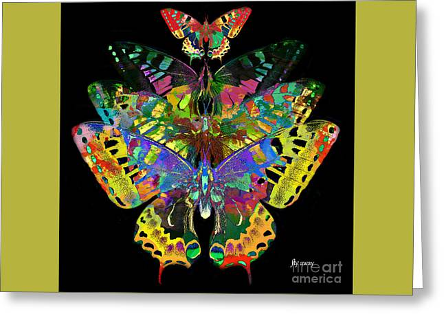Greeting Card featuring the digital art Fly Away 2017 by Kathryn Strick