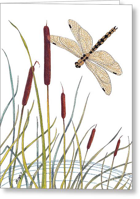 Fly High Dragonfly Greeting Card