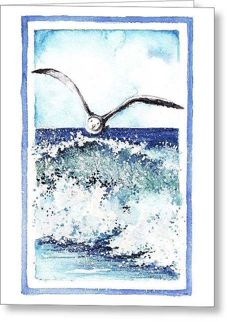 Greeting Card featuring the painting Fly High by Heidi Kriel