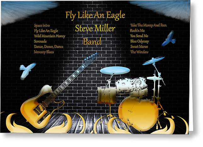 Fly Like An Eagle Greeting Card by Michael Damiani