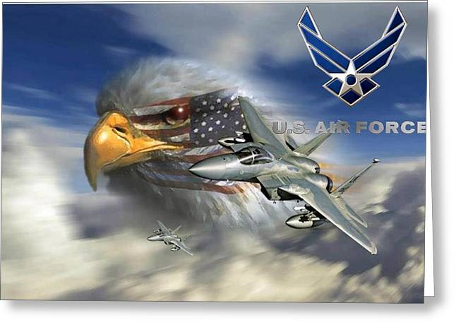 Fly Like The Eagle Greeting Card