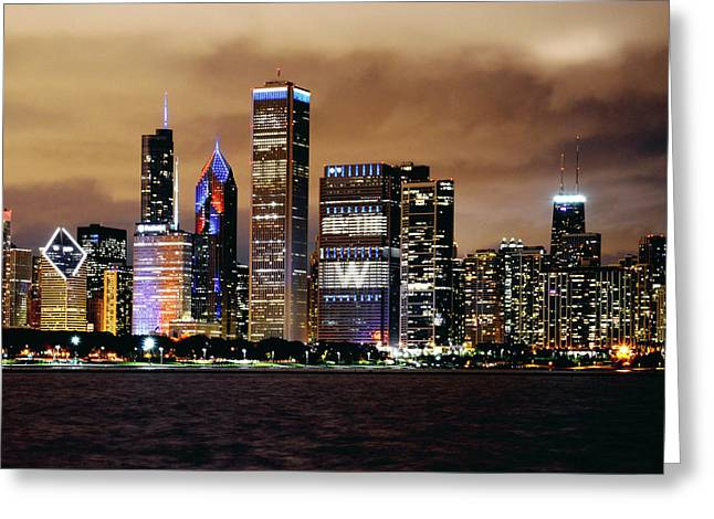 Cubs World Series Chicago Skyline Greeting Card by Horsch Gallery