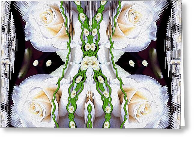 Fly With Roses And Wings Into Freedom Greeting Card by Pepita Selles