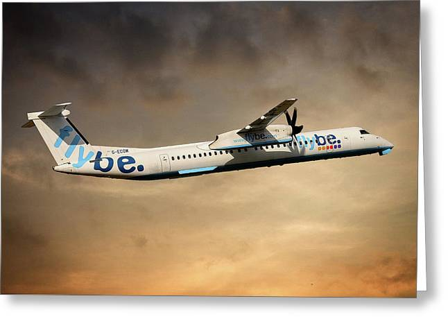 Flybe Bombardier Dash 8 Q400 Greeting Card