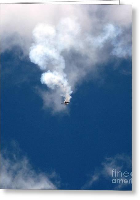 Aerobatic Flyers 3 Greeting Card by Marta Robin Gaughen