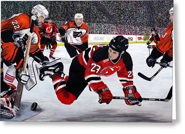 Flyers/devils Greeting Card by Mark Richardson