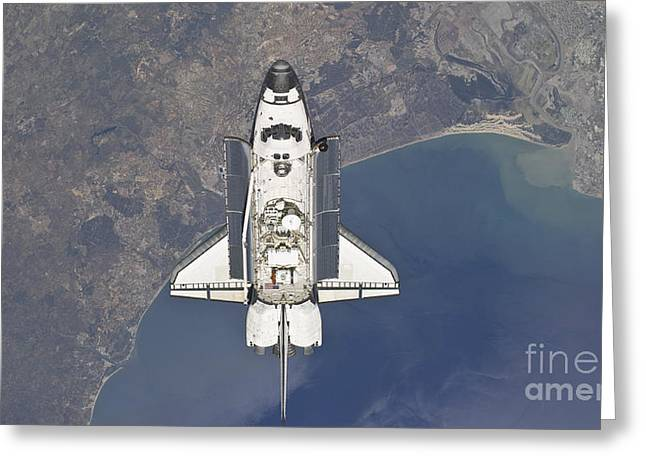 Flying Above The Atlantic Coast Greeting Card by Stocktrek Images