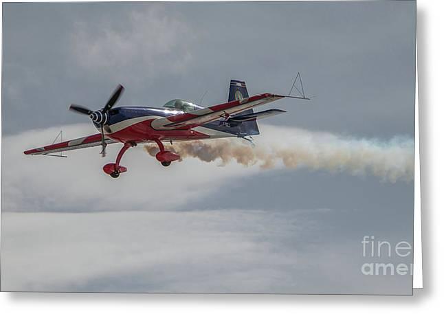 Flying Acrobatic Plane Greeting Card