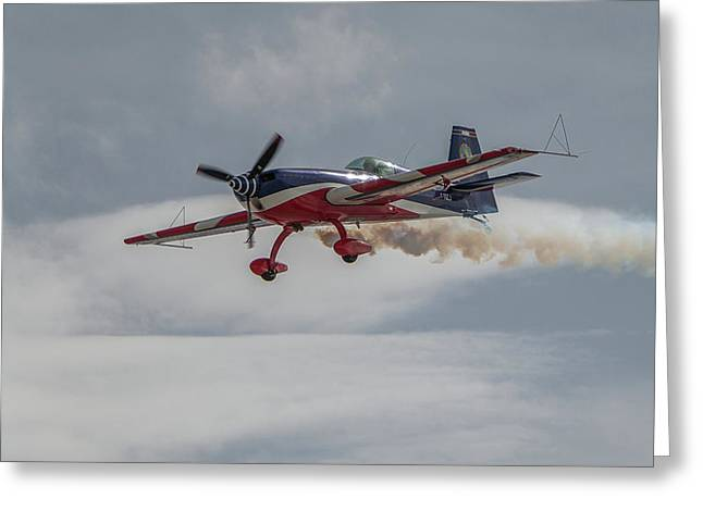 Flying Acrobatic Plane Greeting Card