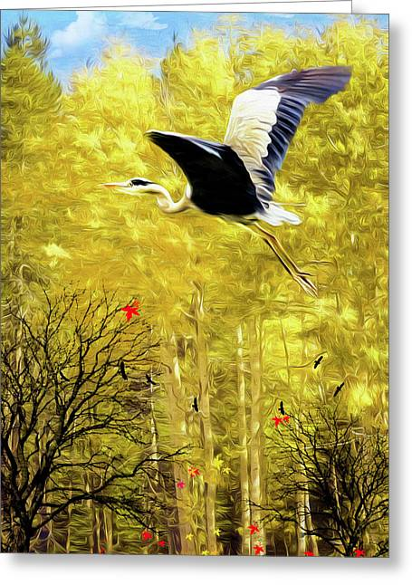 Flying Against The Wind Greeting Card