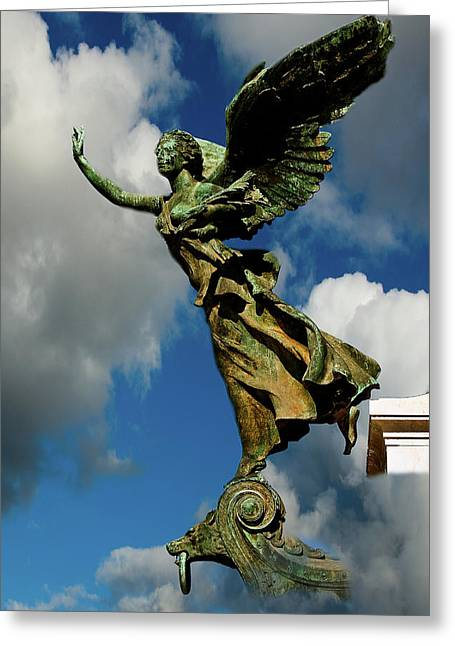 Flying Angel Greeting Cards - Flying Angel Greeting Card by Harry Spitz
