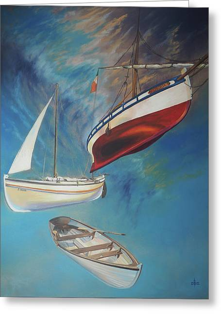 Flying Boats Greeting Card