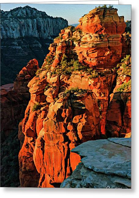 Flying Buttress 06-034 Greeting Card by Scott McAllister