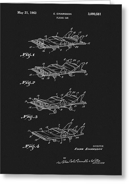 Flying Car Patent Greeting Card