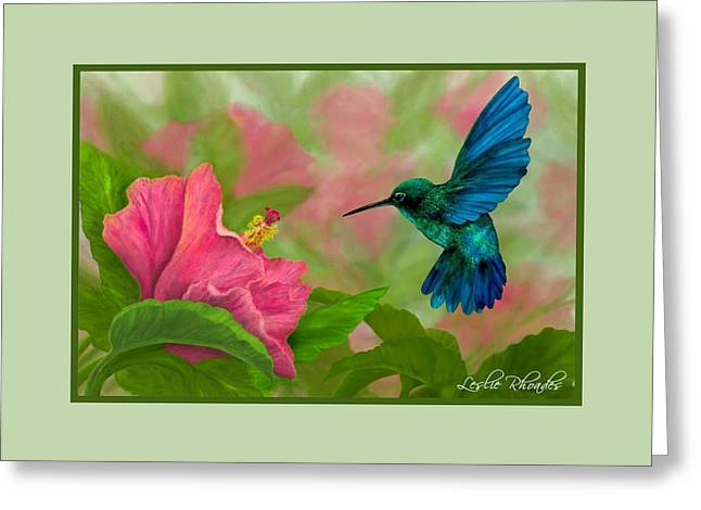 Leslie Rhoades Greeting Cards - Flying Colors Greeting Card by Leslie Rhoades
