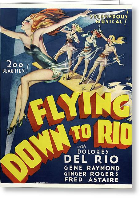 Flying Down To Rio 1933 Greeting Card