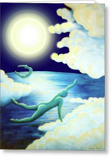 Flying Dream 2 Greeting Card by Barbara Stirrup
