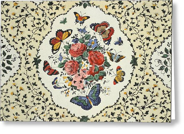 Flying Flowers Greeting Card by Harry Wearne