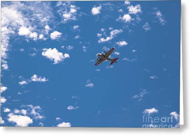 Flying Fortress Flying Greeting Card
