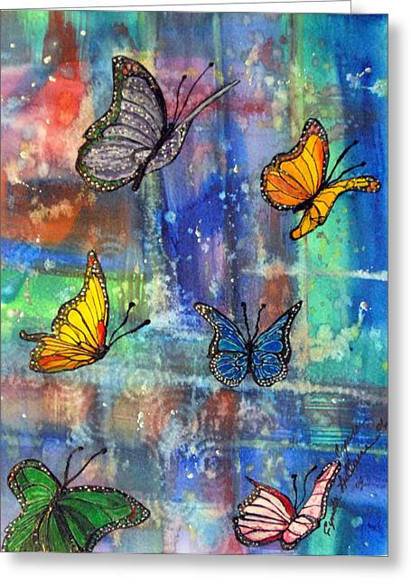 Flying Free Greeting Card by Cynda LuClaire