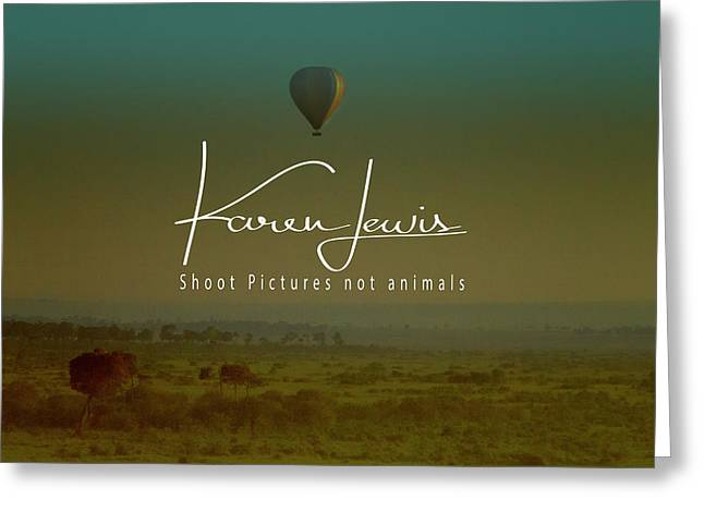 Greeting Card featuring the photograph Flying High On The Masai Mara by Karen Lewis
