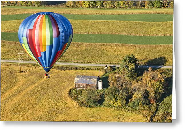 Flying Hight Over New York State Greeting Card