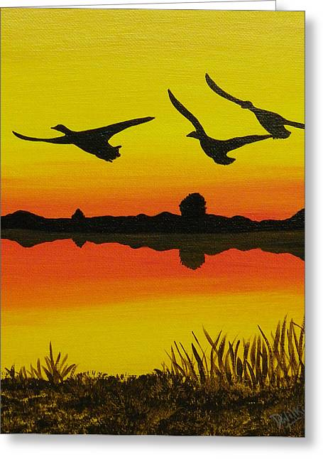 Flying Home Greeting Card by Doug Wilkie