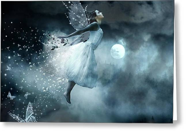 Flying In Your Dreams Greeting Card by Lilia D