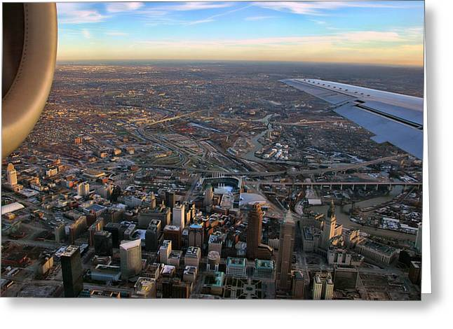 Flying Over Cincinnati Greeting Card