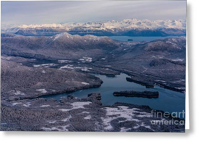 Flying Over Southeast Alaska Greeting Card