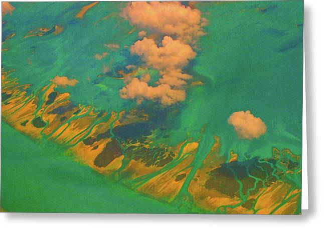 Flying Over The Keys, Florida Greeting Card