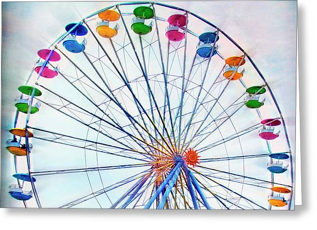 Flying Saucers Greeting Card by Tammy Wetzel