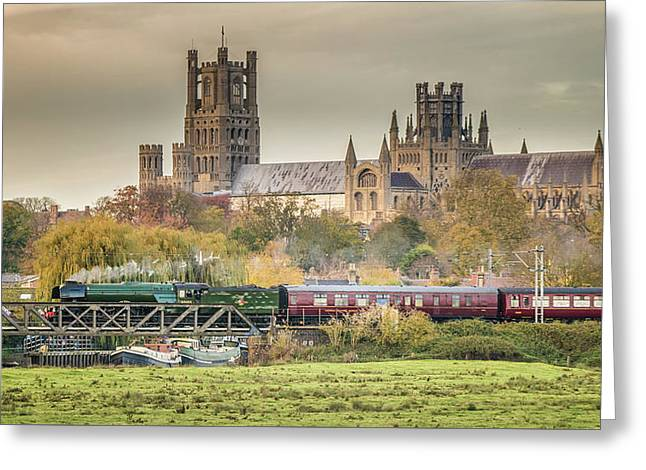 Flying Scotsman At Ely Greeting Card
